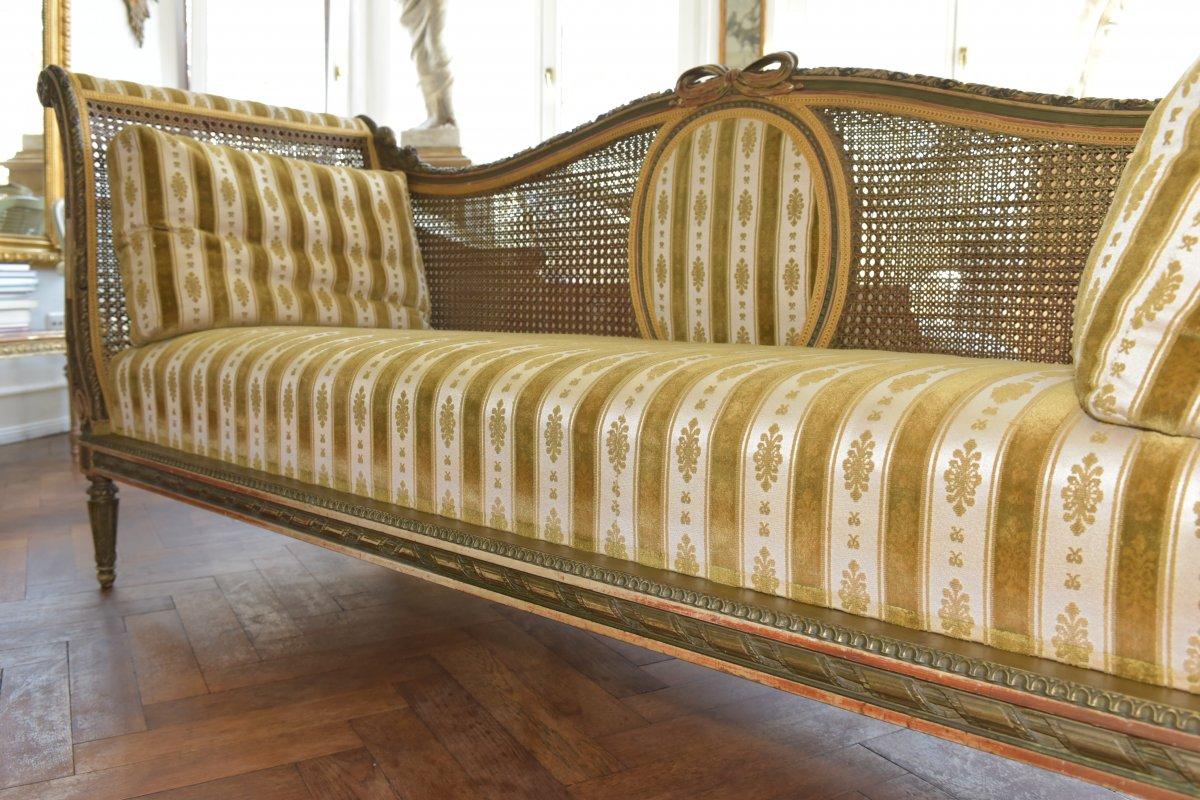 Canapé De Style Louis XVI. Epoque Napoléon III-photo-4