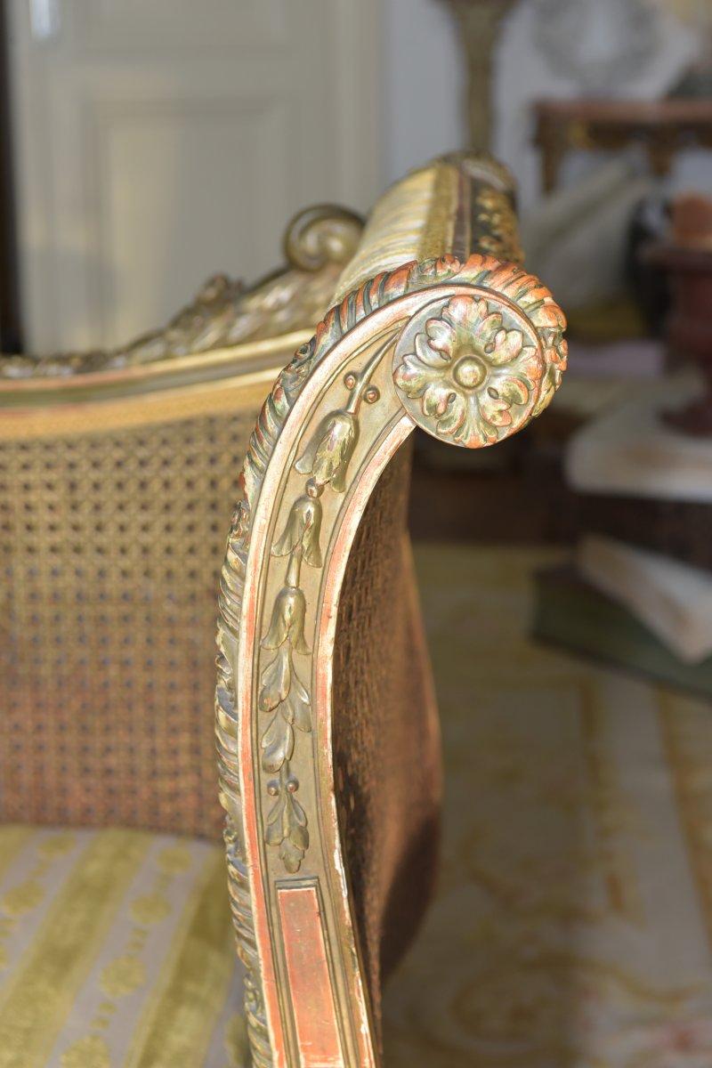 Canapé De Style Louis XVI. Epoque Napoléon III-photo-1