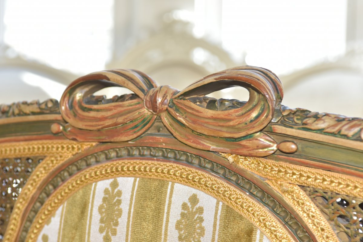 Canapé De Style Louis XVI. Epoque Napoléon III-photo-3