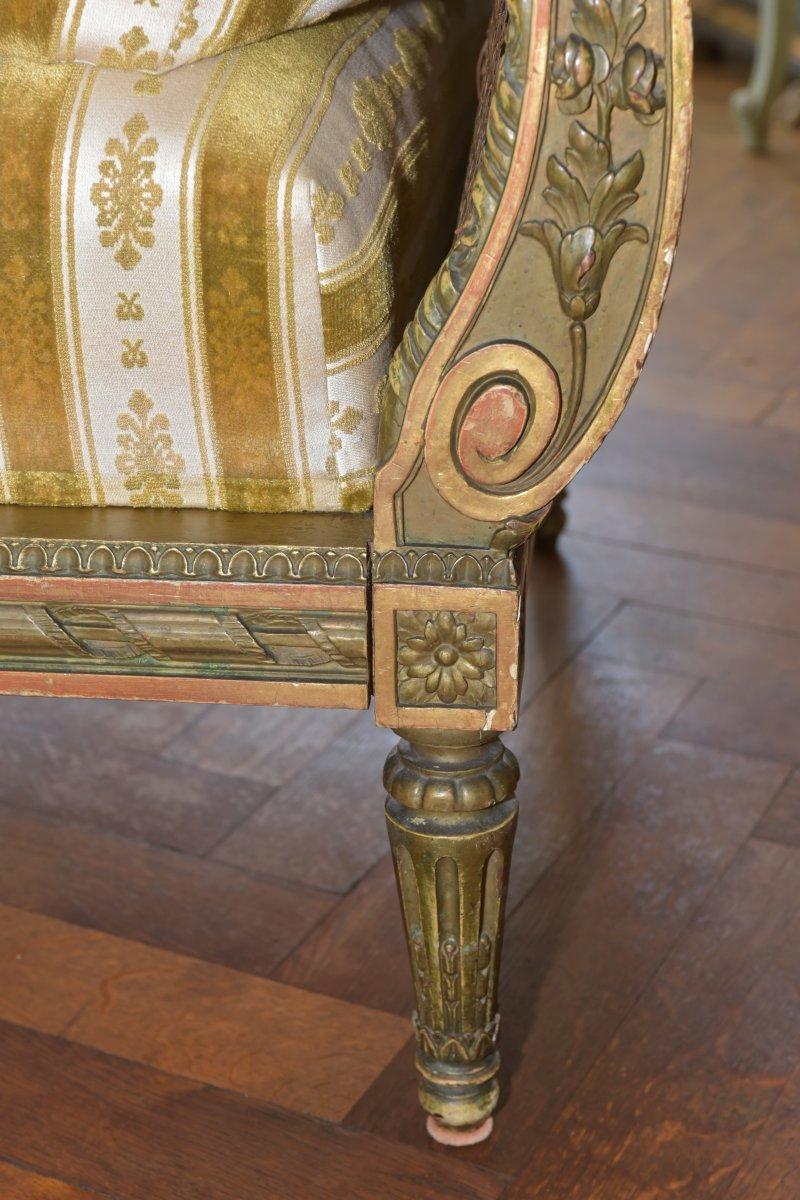 Canapé De Style Louis XVI. Epoque Napoléon III-photo-5