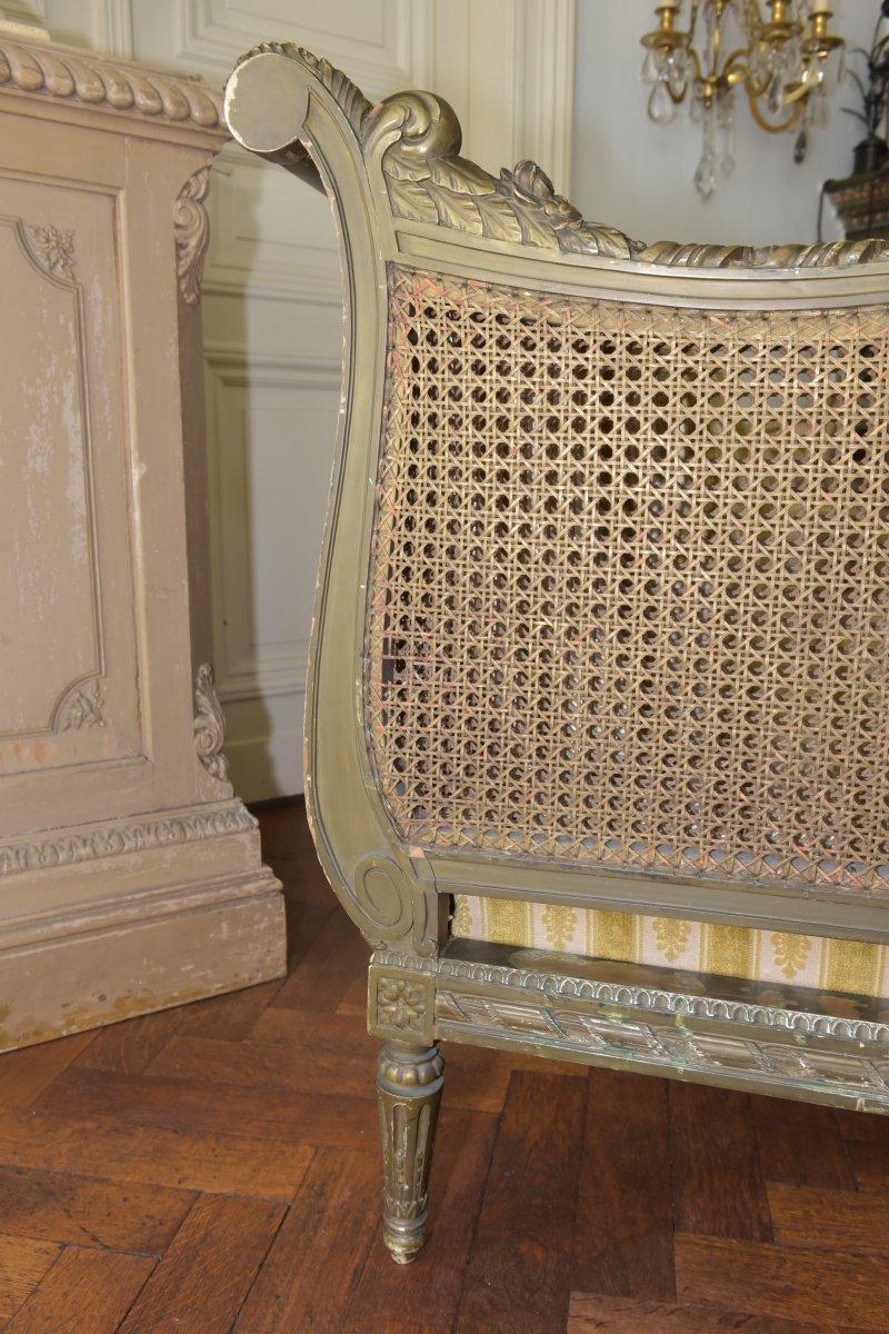 Canapé De Style Louis XVI. Epoque Napoléon III-photo-7
