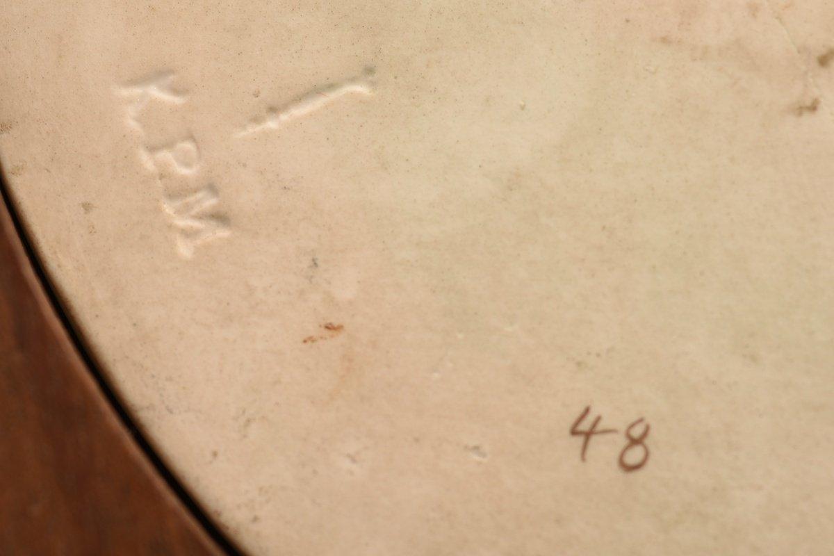 Kpm. Plaque De Porcelaine.  La Madone Du Grand-duc.  XIXème.-photo-7