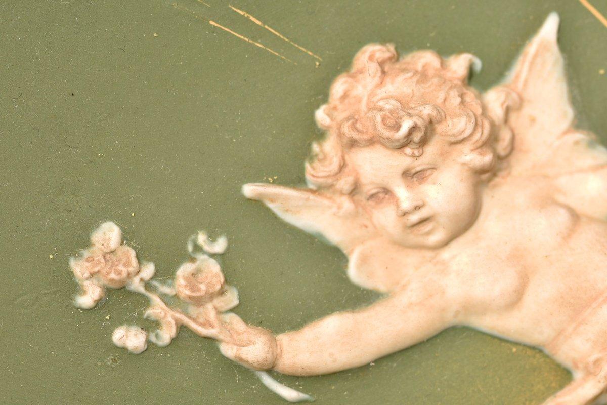 Biscuit Bas Relief. Art Nouveau.-photo-4