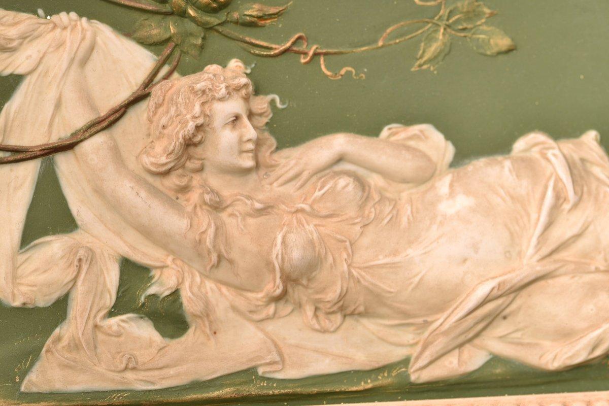 Biscuit Bas Relief. Art Nouveau.-photo-5