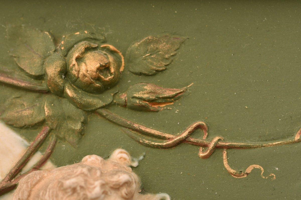 Biscuit Bas Relief. Art Nouveau.-photo-6