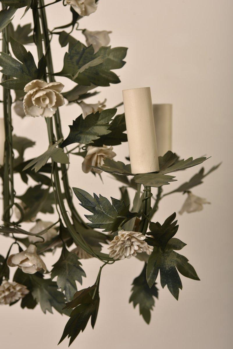 Lustre Et Appliques. Métal Et Porcelaine.-photo-5