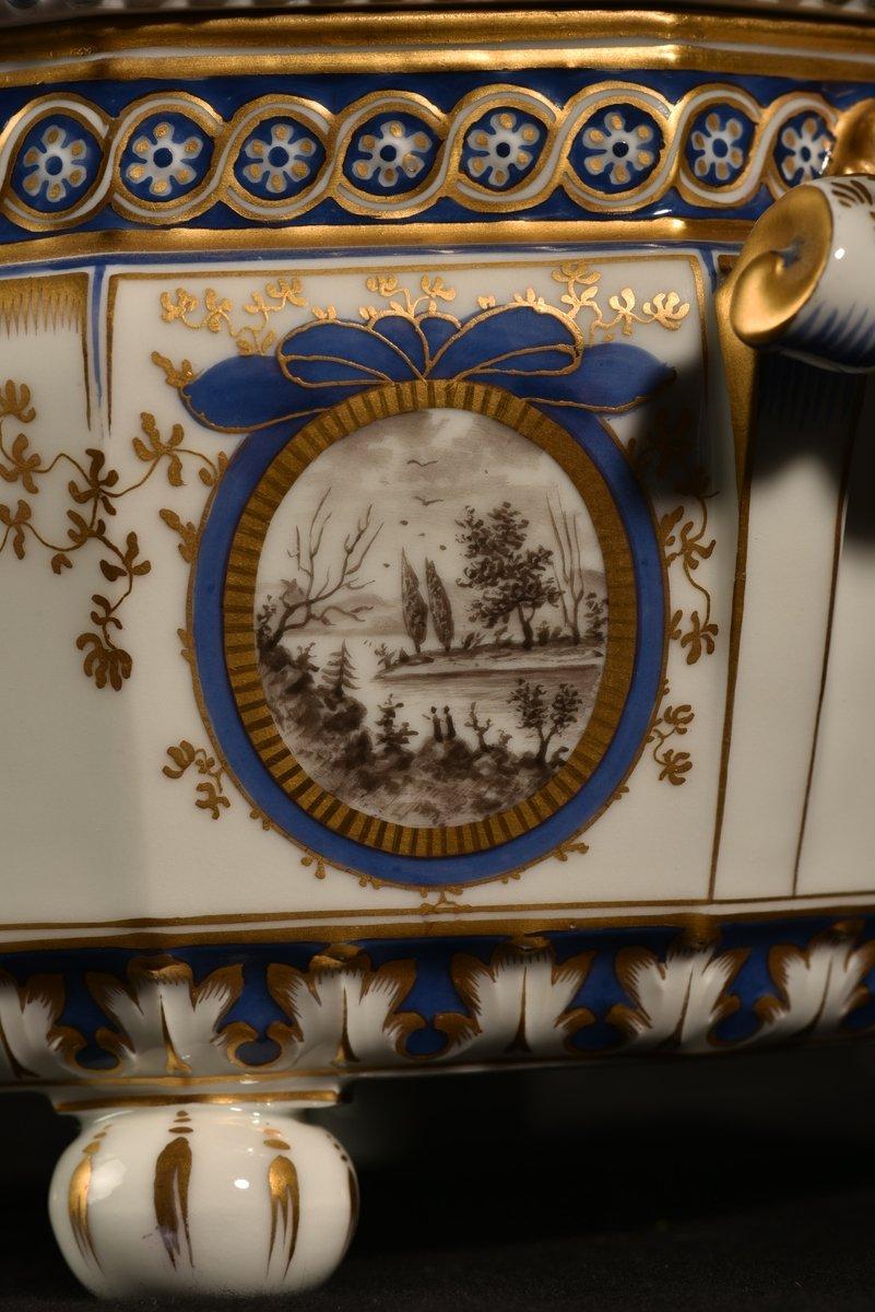 Nymphenburg. Bayerisches Königsservice. Terrine En Porcelaine. XXème.-photo-4
