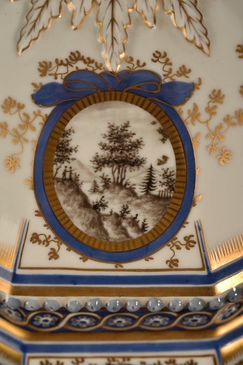 Nymphenburg. Bayerisches Königsservice. Terrine En Porcelaine. XXème.-photo-6