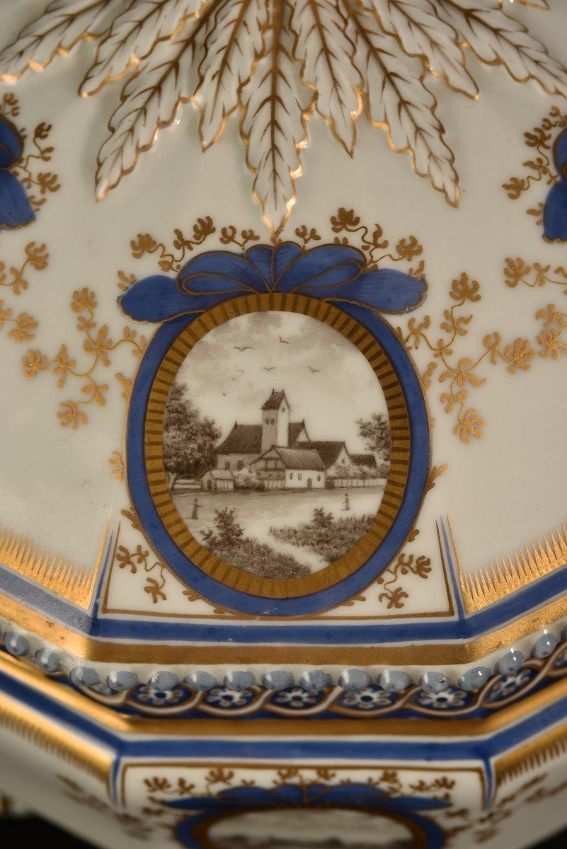 Nymphenburg. Bayerisches Königsservice. Terrine En Porcelaine. XXème.-photo-7
