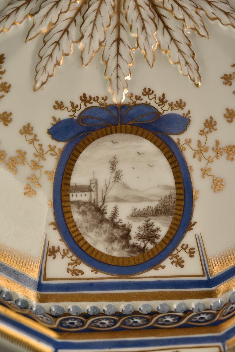 Nymphenburg. Bayerisches Königsservice. Terrine En Porcelaine. XXème.-photo-8