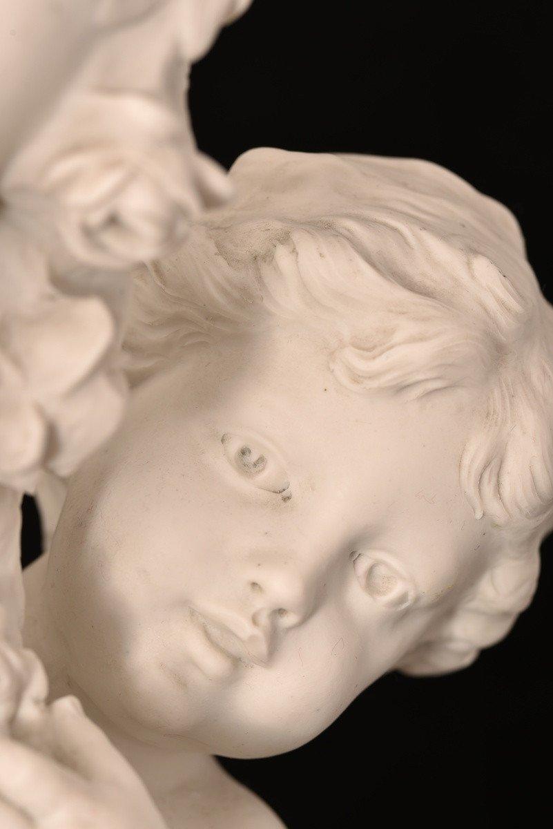Sculpture En Biscuit. Hippolyte Moreau. Sèvres. 55cm.-photo-4