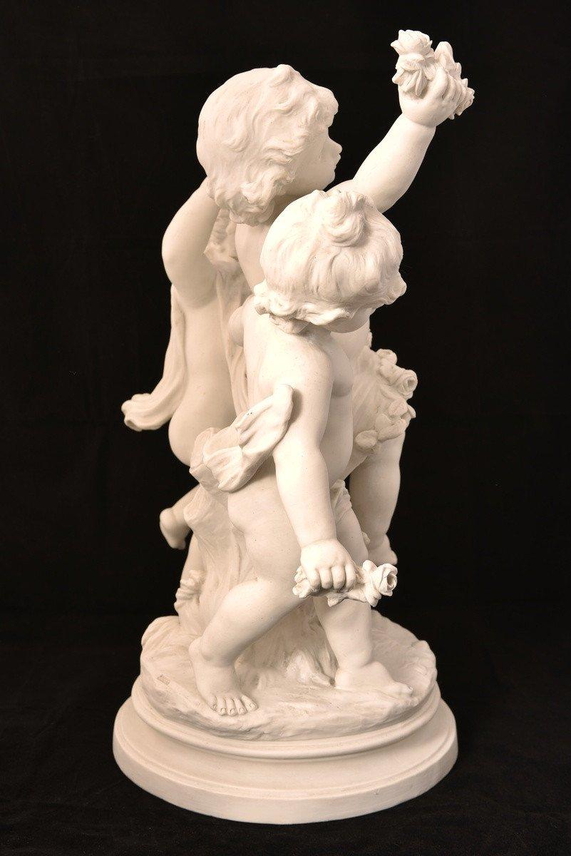 Sculpture En Biscuit. Hippolyte Moreau. Sèvres. 55cm.-photo-2