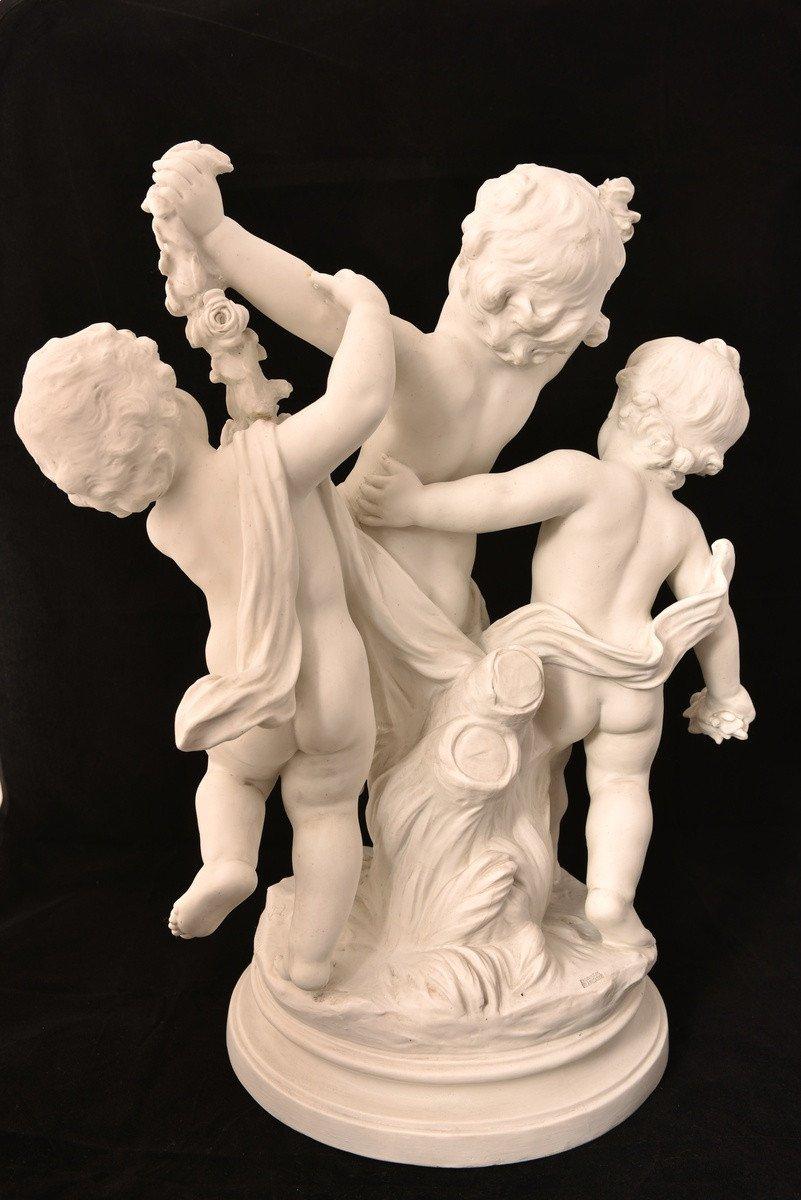 Sculpture En Biscuit. Hippolyte Moreau. Sèvres. 55cm.-photo-3