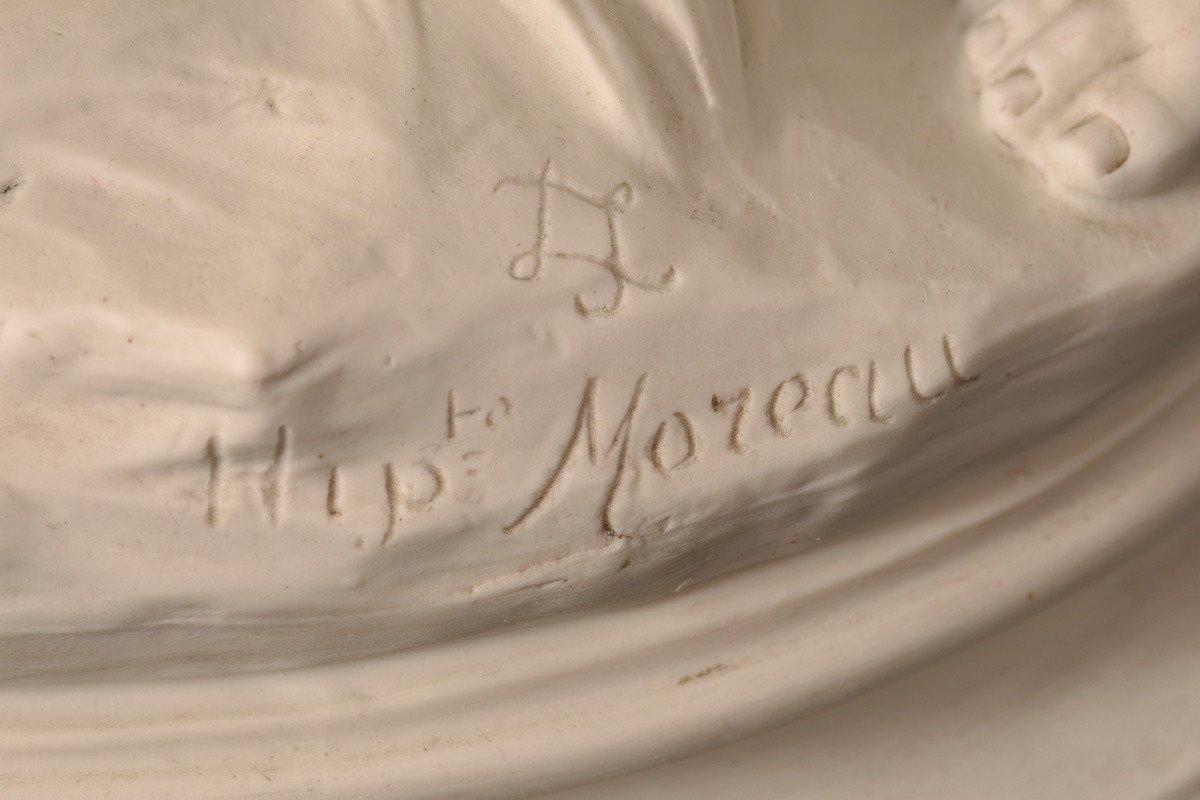 Sculpture En Biscuit. Hippolyte Moreau. Sèvres. 55cm.-photo-8