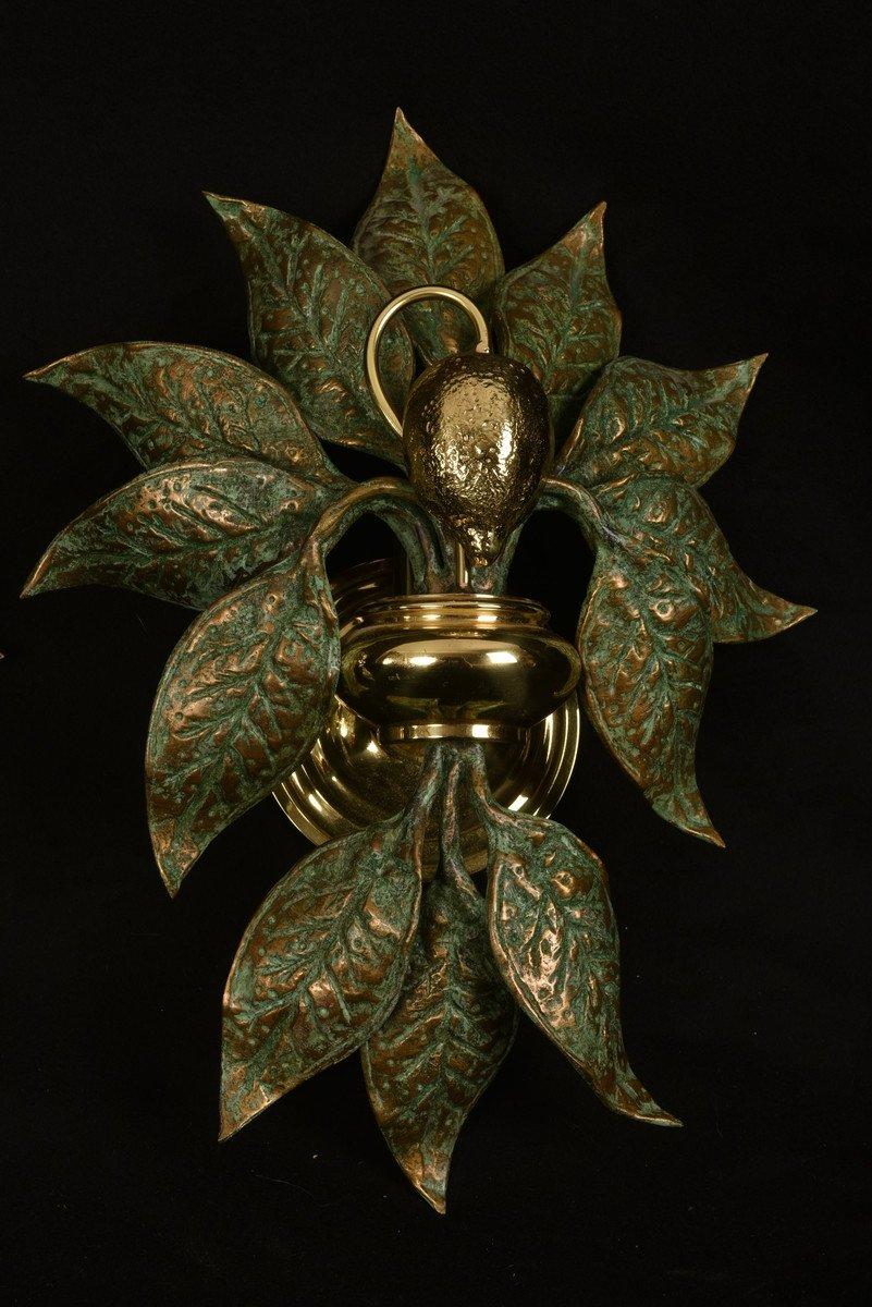 Appliques Design.  Bronze Doré. Fontana Arte.-photo-2