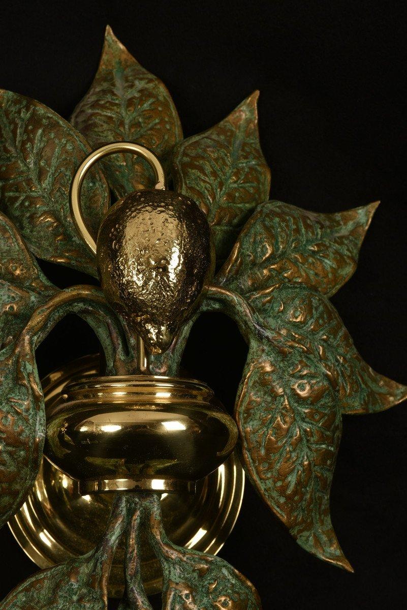 Appliques Design.  Bronze Doré. Fontana Arte.-photo-3