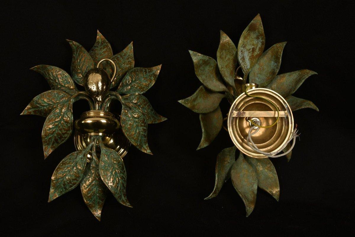 Appliques Design.  Bronze Doré. Fontana Arte.-photo-4