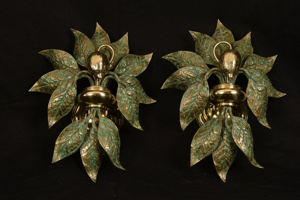 Appliques Design.  Bronze Doré. Fontana Arte.