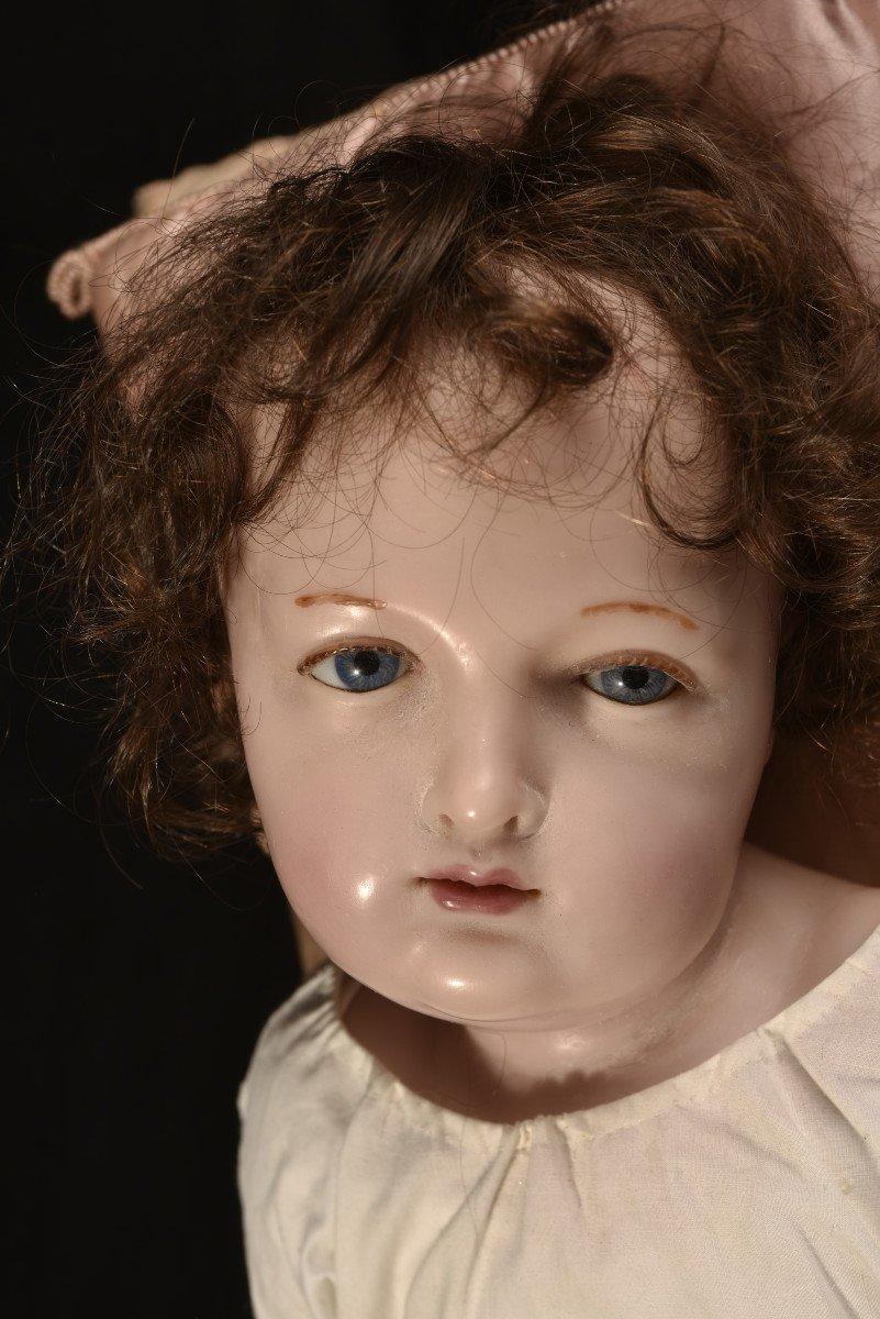 Importante Sculpture En Cire. Enfant Jésus.-photo-4