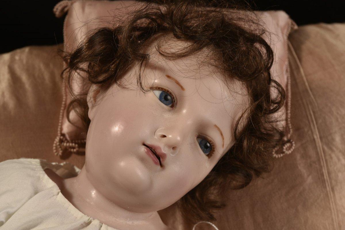 Importante Sculpture En Cire. Enfant Jésus.-photo-3