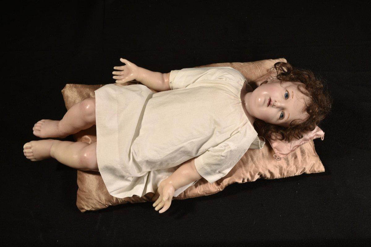 Importante Sculpture En Cire. Enfant Jésus.-photo-1