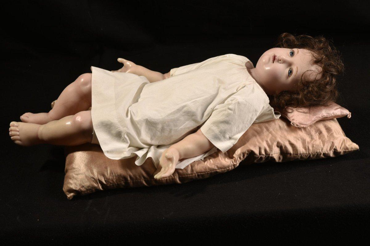 Importante Sculpture En Cire. Enfant Jésus.-photo-5