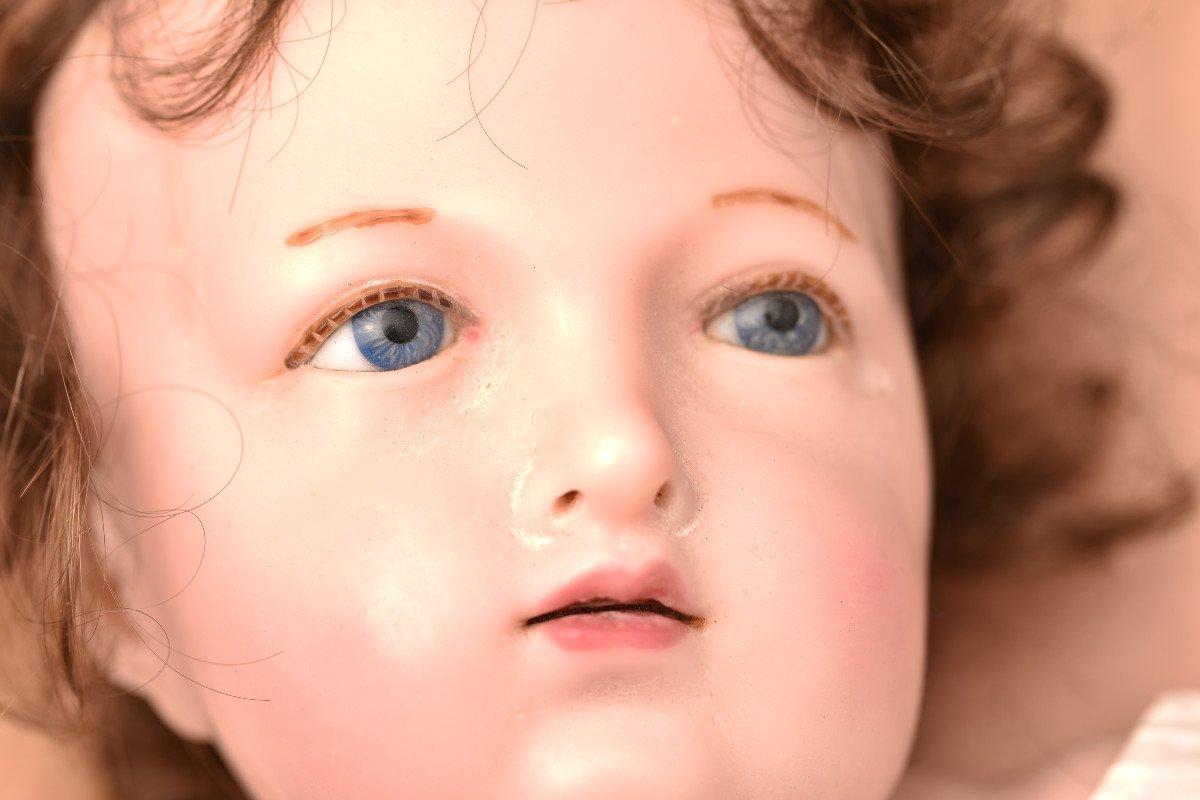 Importante Sculpture En Cire. Enfant Jésus.-photo-8