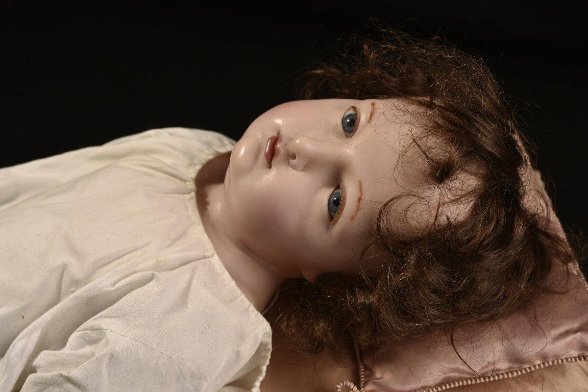 Importante Sculpture En Cire. Enfant Jésus.