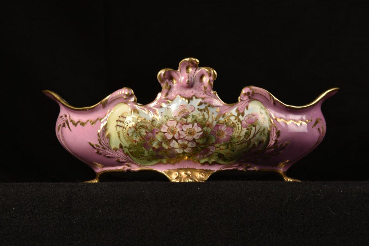 Porcelaine Limoges. Garniture De Cheminée. 1910 Art nouveau.-photo-3