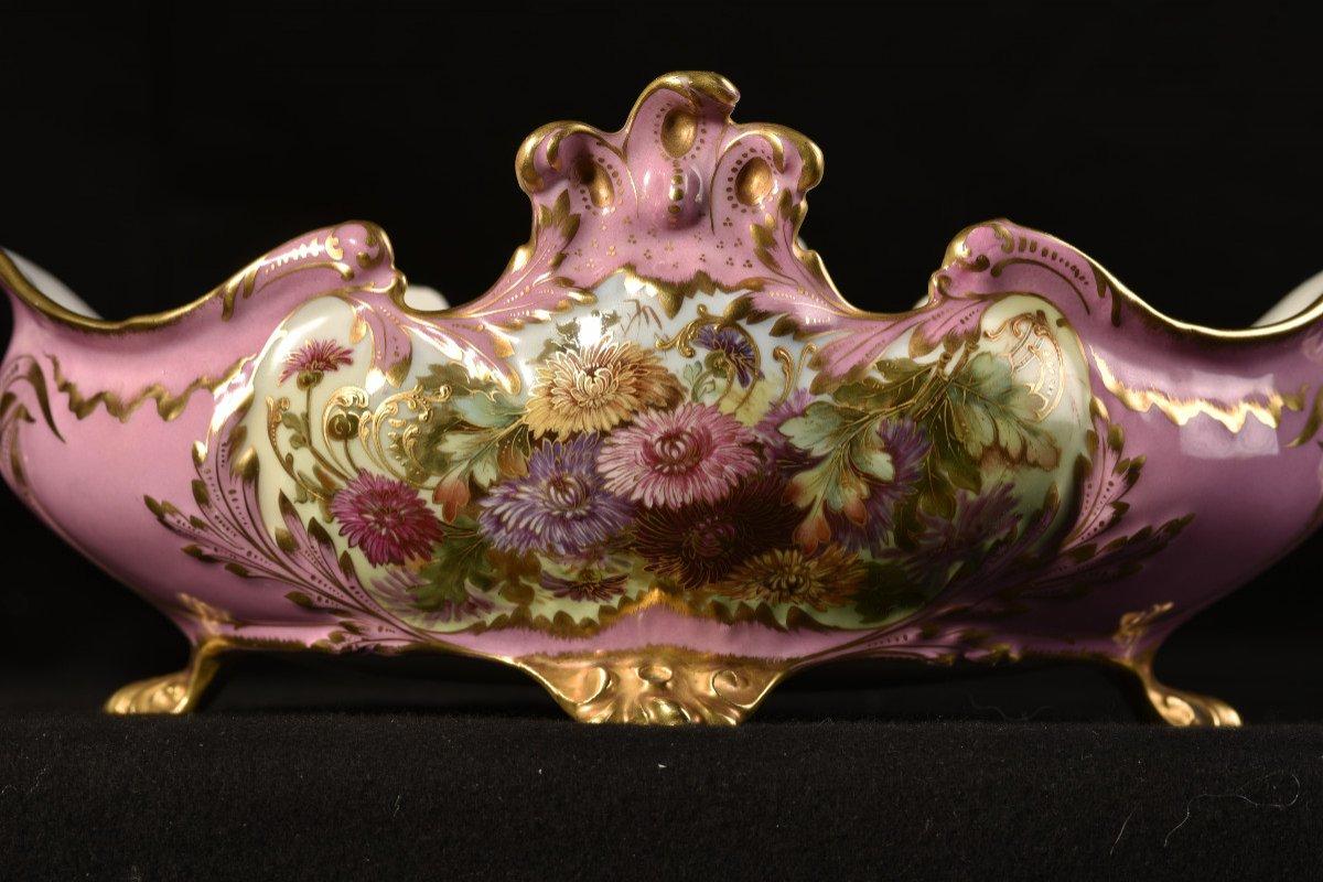 Porcelaine Limoges. Garniture De Cheminée. 1910 Art nouveau.-photo-4