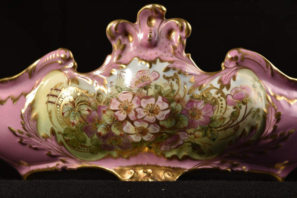 Porcelaine Limoges. Garniture De Cheminée. 1910 Art nouveau.-photo-1