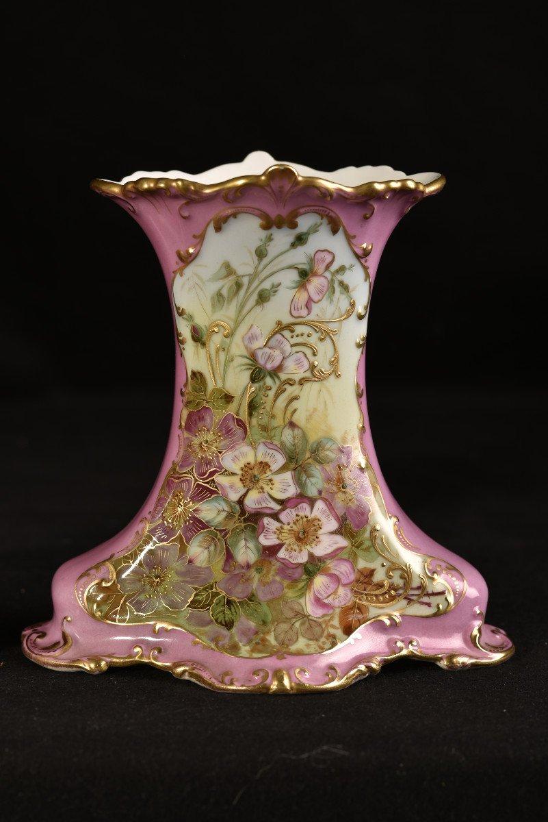 Porcelaine Limoges. Garniture De Cheminée. 1910 Art nouveau.-photo-6