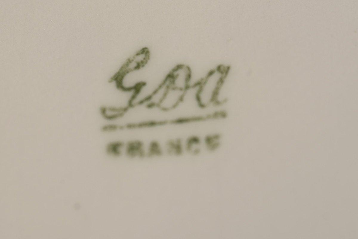 Porcelaine Limoges. Garniture De Cheminée. 1910 Art nouveau.-photo-7