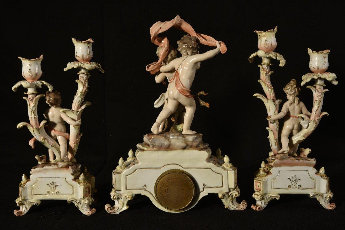 Garniture De Cheminée. Art Nouveau. Allemagne.-photo-2