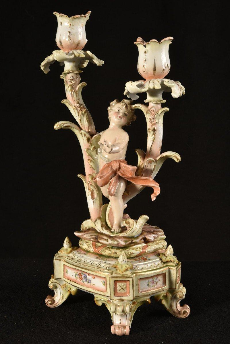 Garniture De Cheminée. Art Nouveau. Allemagne.-photo-4