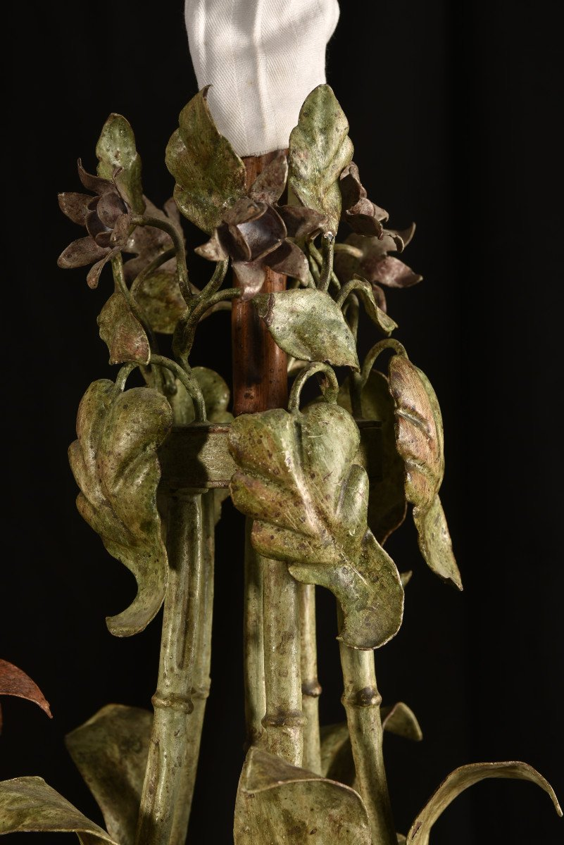 Lampe Fleurs De Calla Ou D´arum. Années 50.-photo-2