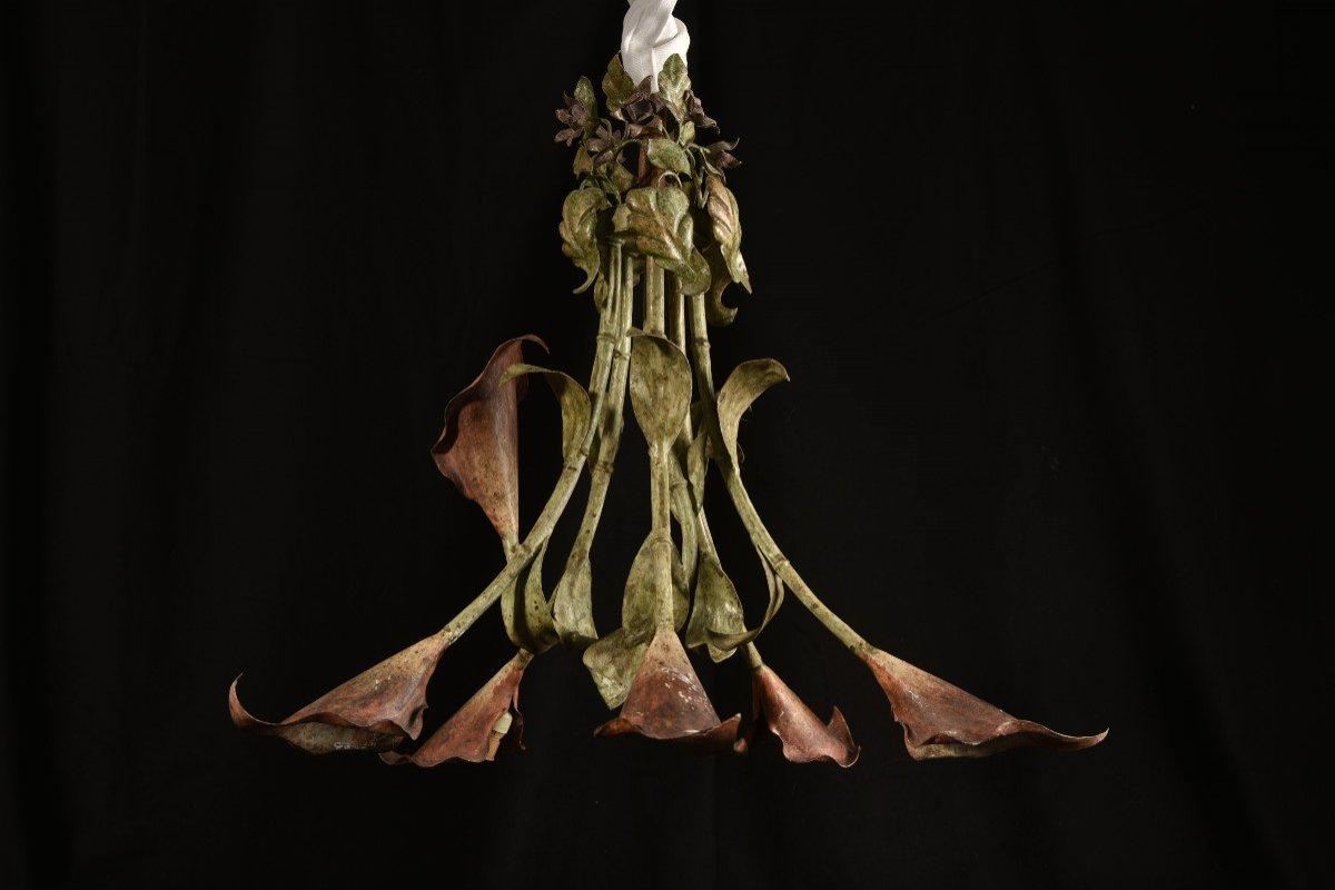 Lampe Fleurs De Calla Ou D´arum. Années 50.