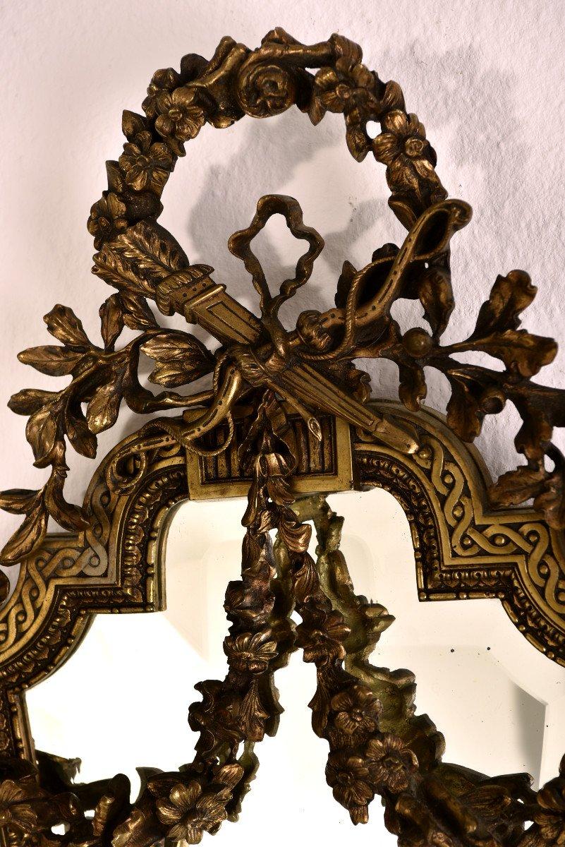 Imposantes Appliques En Bronze. Napleon III.-photo-2