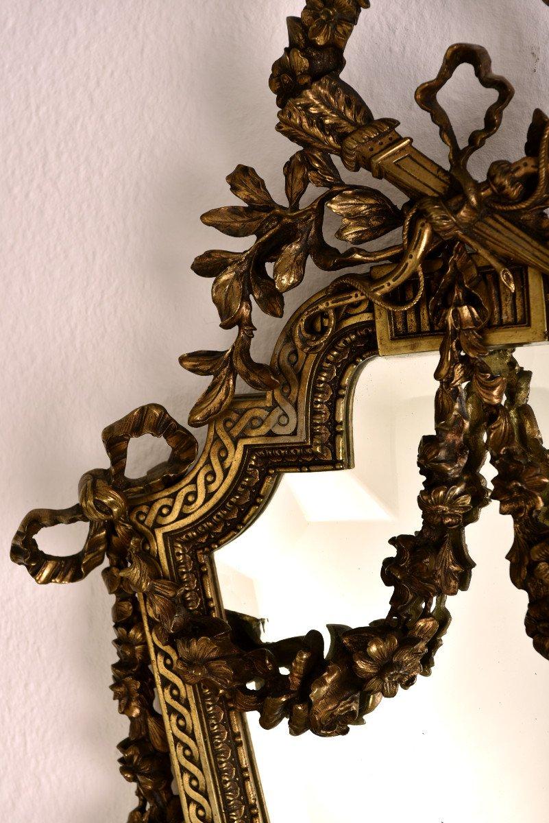 Imposantes Appliques En Bronze. Napleon III.-photo-3