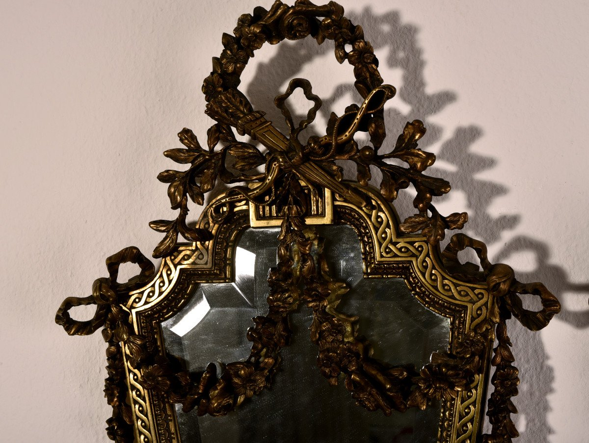Imposantes Appliques En Bronze. Napleon III.-photo-5