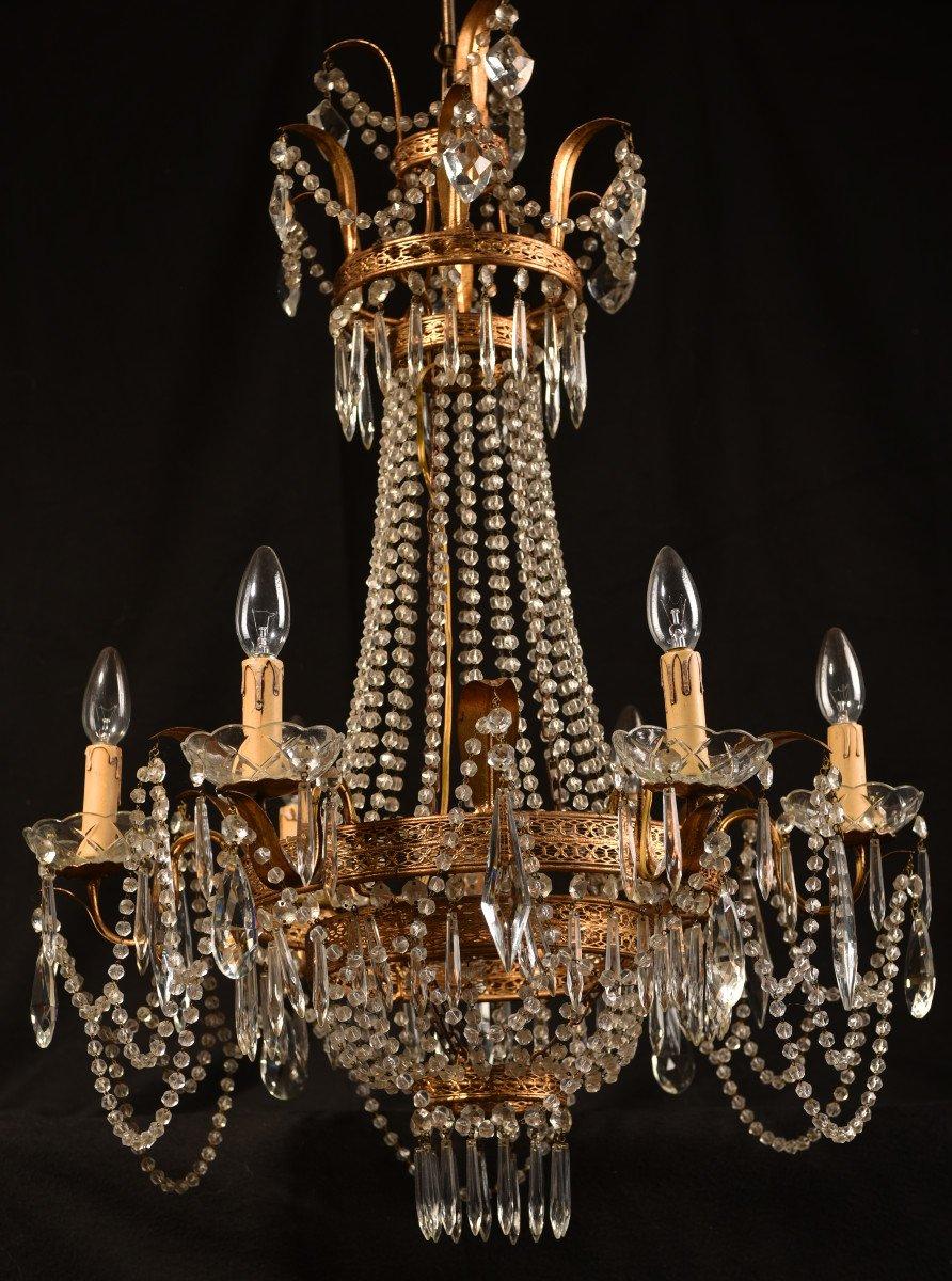 Lustre Corbeille. Marie-antoinette. Style Louis XVI.-photo-2