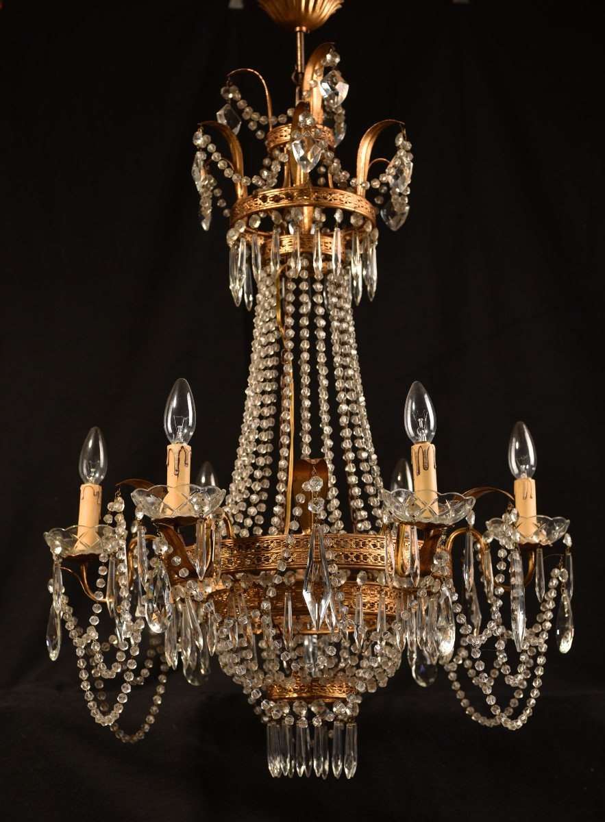 Lustre Corbeille. Marie-antoinette. Style Louis XVI.-photo-6