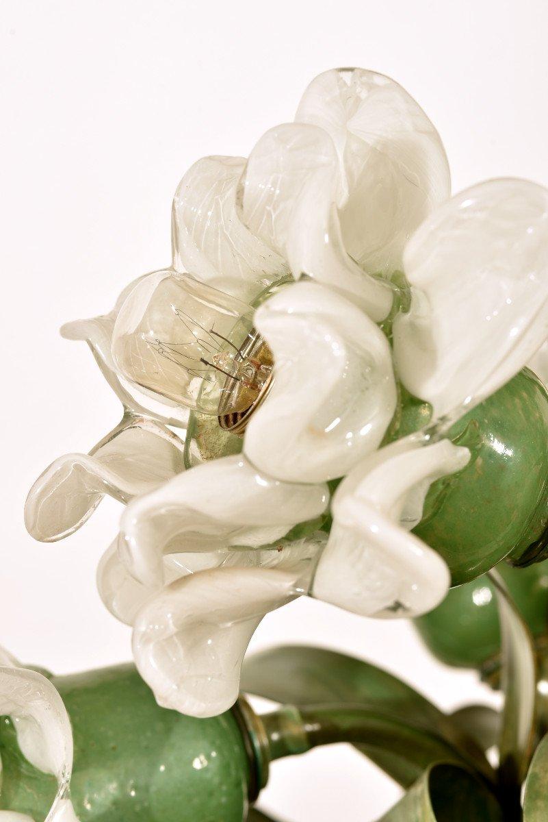 Lampe Corbeille De Roses. Murano. Design années 60.-photo-5