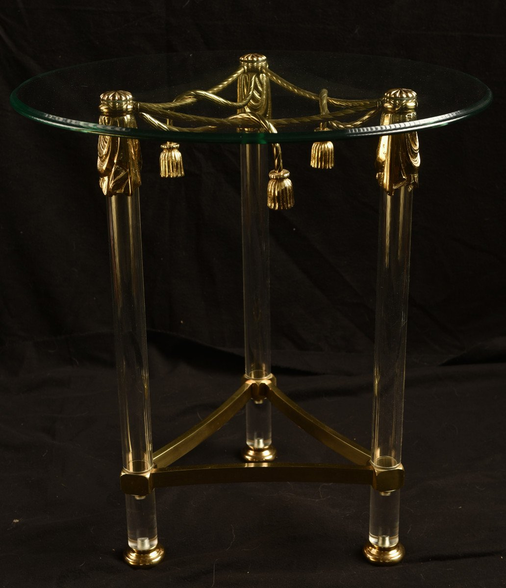 Table Ronde. Design. Altuglass Et Verre.-photo-4