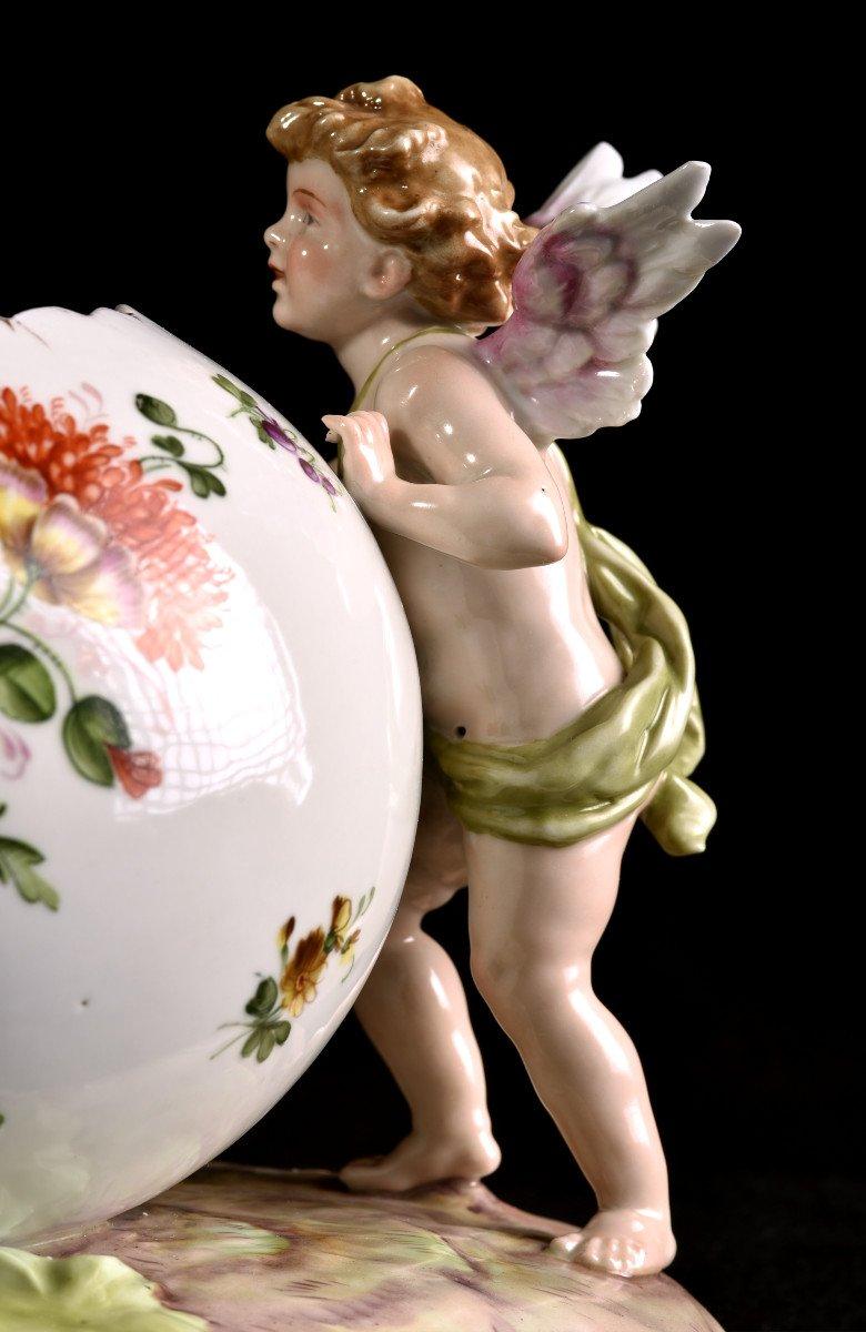 Important Centre De Table En Porcelaine Allemande . Plaue Vers 1900-photo-4