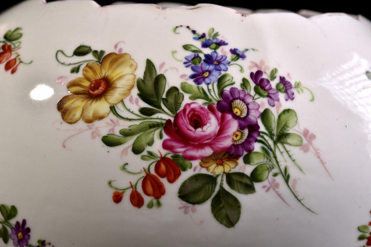 Important Centre De Table En Porcelaine Allemande . Plaue Vers 1900-photo-2