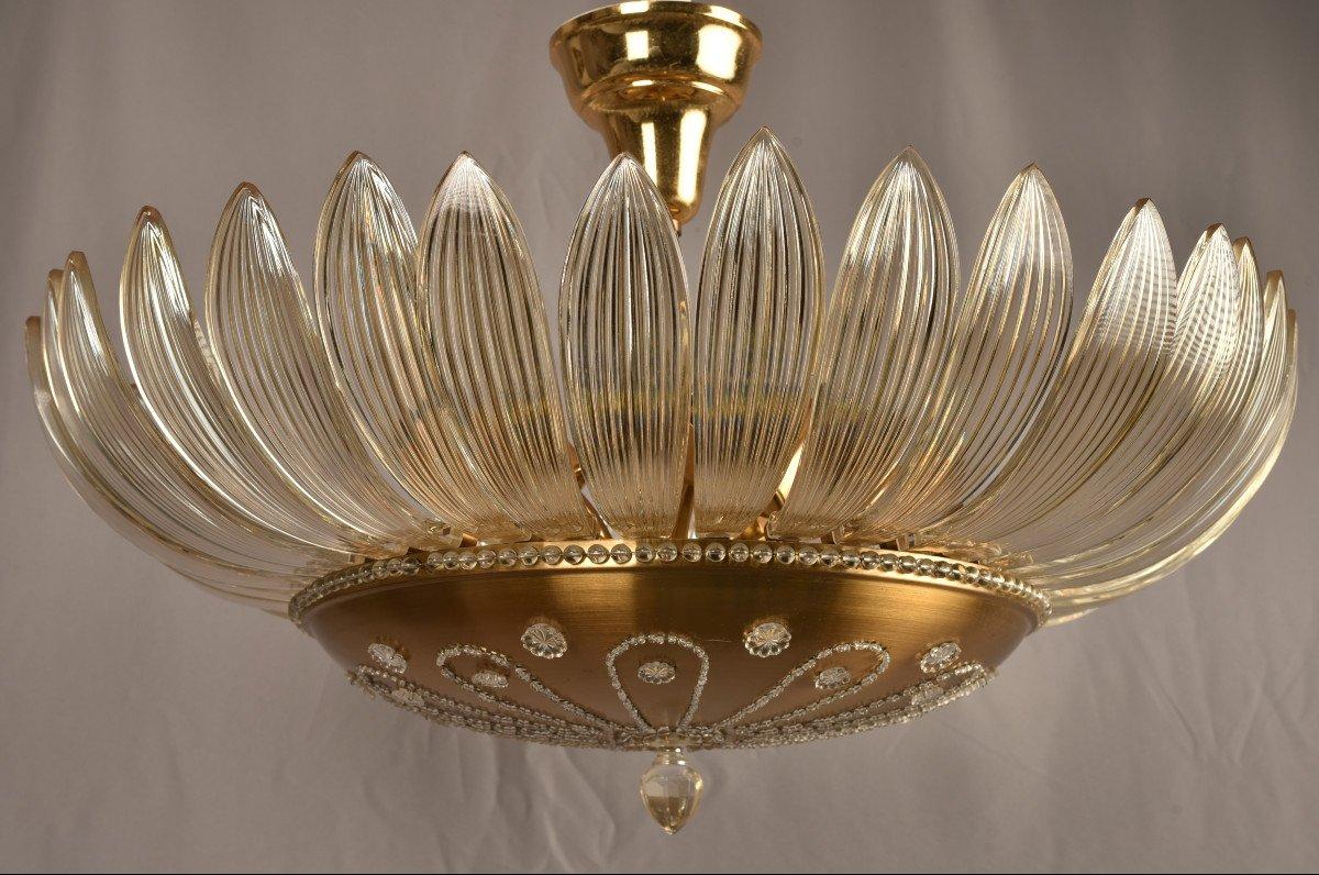 Lustre En Cristal. Design Des Années 50. Style Maison Baguès.-photo-3