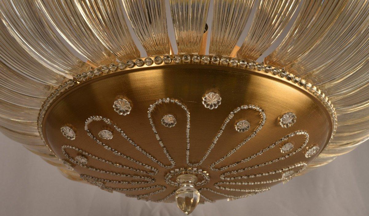 Lustre En Cristal. Design Des Années 50. Style Maison Baguès.-photo-4