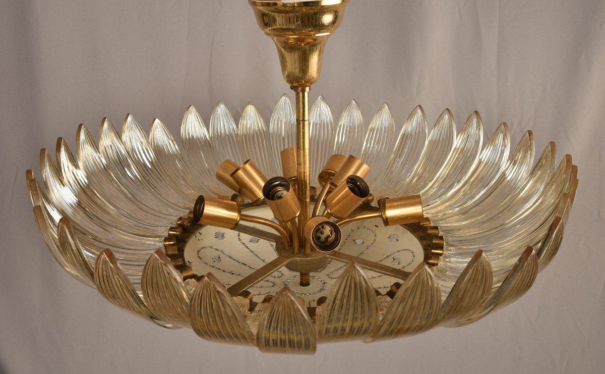 Lustre En Cristal. Design Des Années 50. Style Maison Baguès.-photo-2
