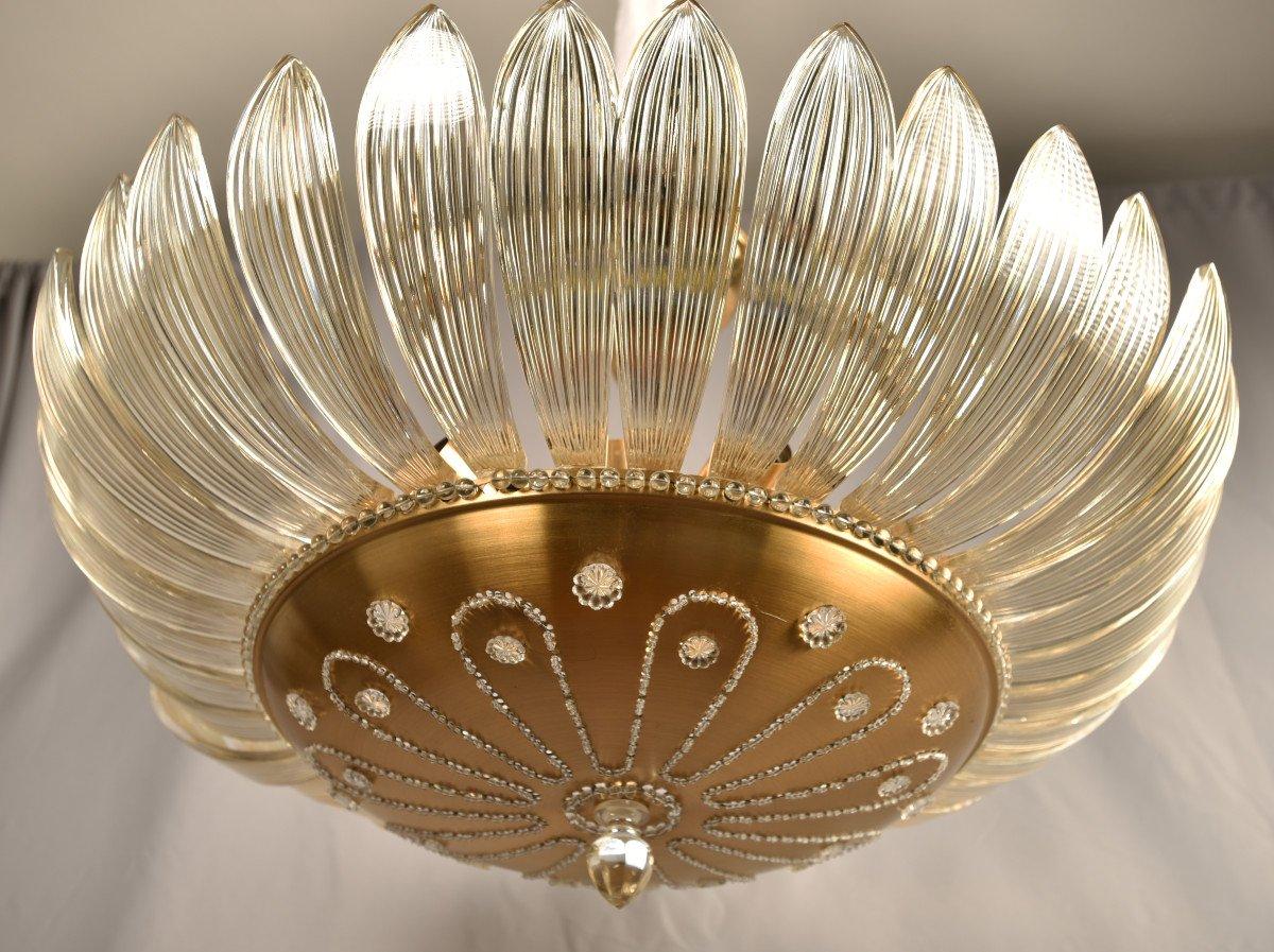 Lustre En Cristal. Design Des Années 50. Style Maison Baguès.-photo-5